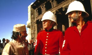 Saeed Jaffrey, left, as Billy Fish in The Man Who Would Be King with Michael Caine and Sean Connery.