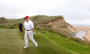 Donald Trump on his golf course near Aberdeen in July of 2012.