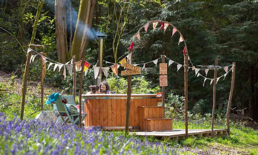 The wild spa at the Enchanted Glade glamping site