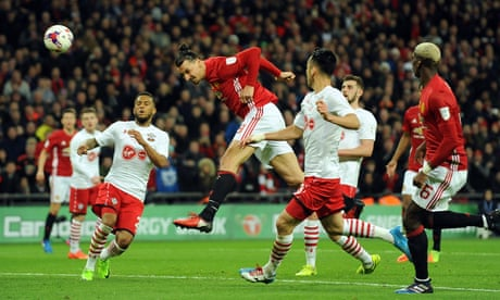 Ibrahimovic  takes Manchester United to EFL Cup final win over Southampton