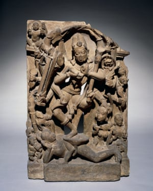 Chamunda dancing on a corpse, Madhya Pradesh, Central India, 800s. ©The Trustees of the British Museum Tantra: enlightenment to revolution (24 September – 24 January 2021) The British Museum
