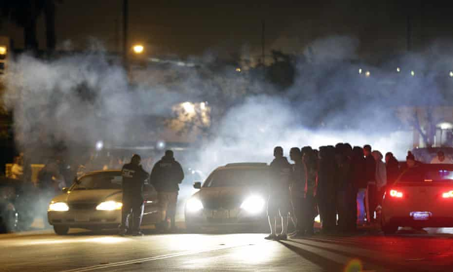 Illegal street racing activities on Ana Street in Compton. Until recently street racing did not form part of police statistics on deaths.