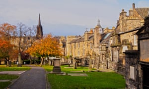 Greyfriars Kirkyard in Edinburgh, Scotland.