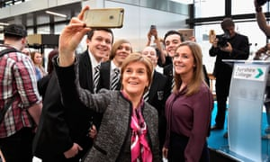 Nicola Sturgeon. Scottish first minister said: 'Our London branch is booming.'
