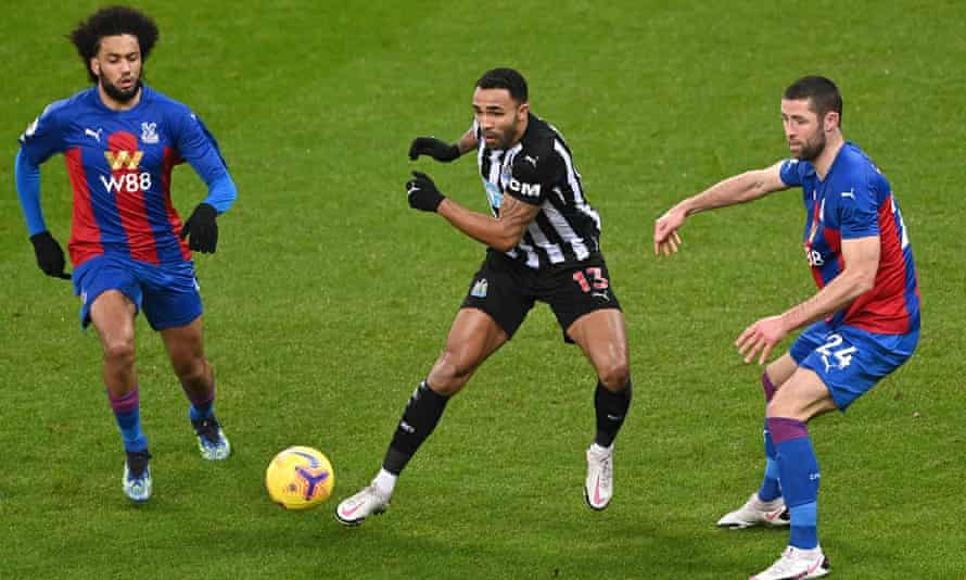 Callum Wilson in the centre of the action against Crystal Palace in February