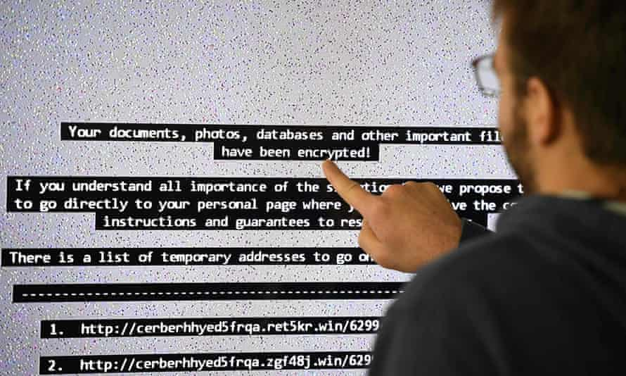 IT researcher at computer screen