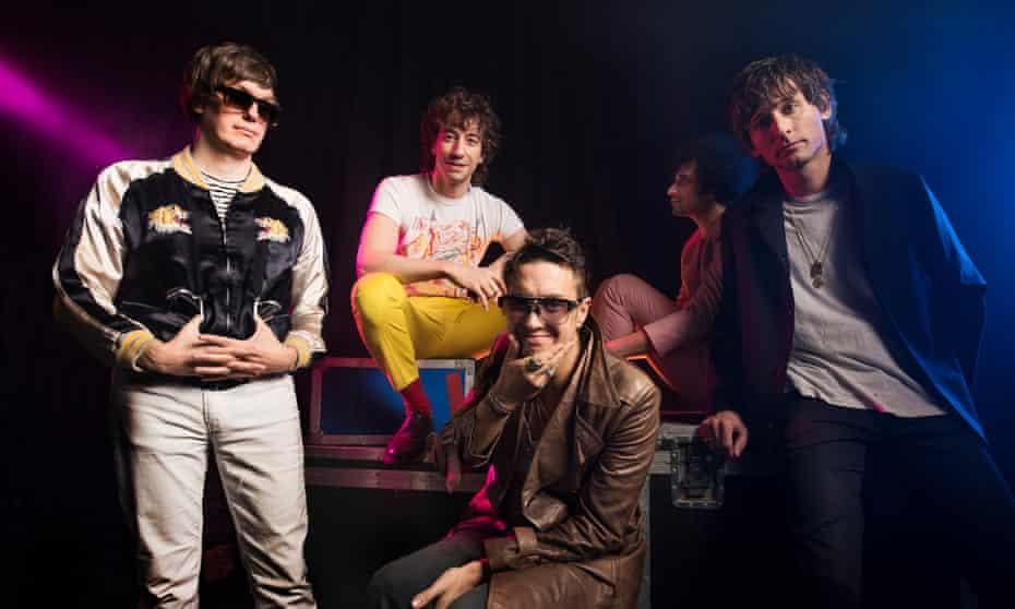 Nikolai Fraiture, Albert Hammond Jr, Julian Casablancas, Fabrizio Moretti and Nick Valensi of the Strokes