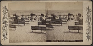 Bathing at Coney Island.