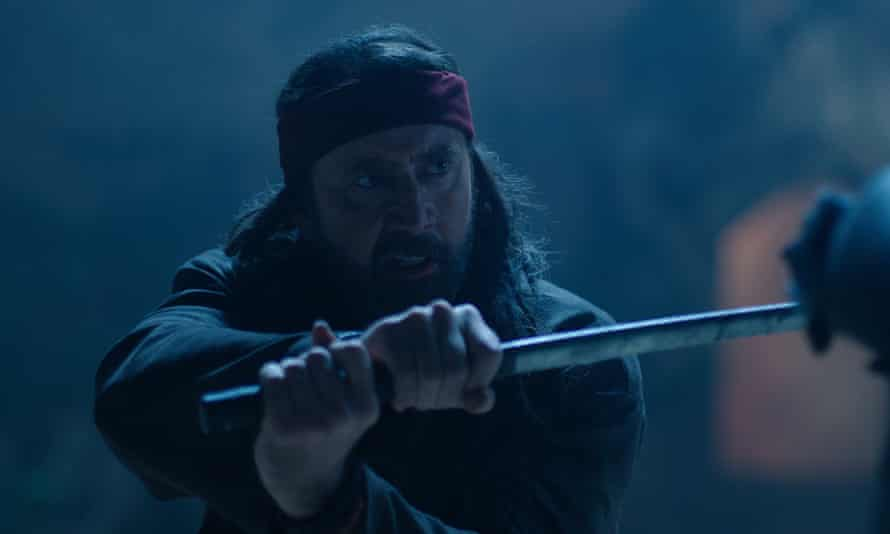 Wacky whacks … Nicolas Cage in Jiu Jitsu.