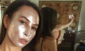 Bhenji Ra wearing a sparkly mask treatment