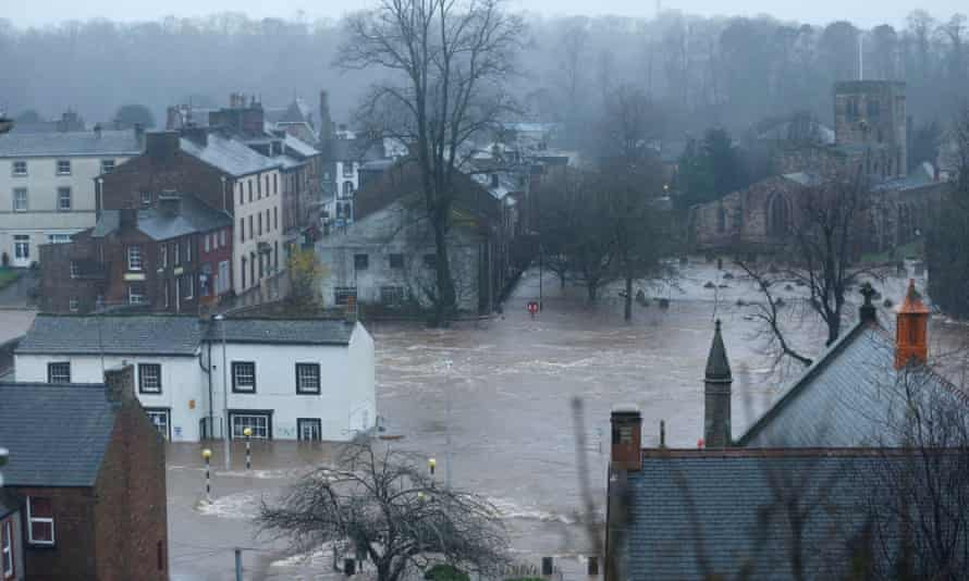 Flooding in Appleby wasn't expected to peak until the early morning.