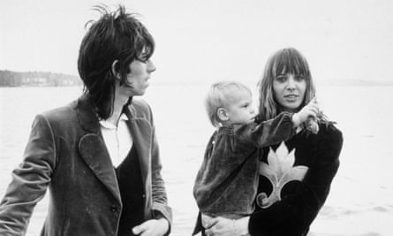 Anita Pallenberg with Keith Richards and their son Marlon in 1970