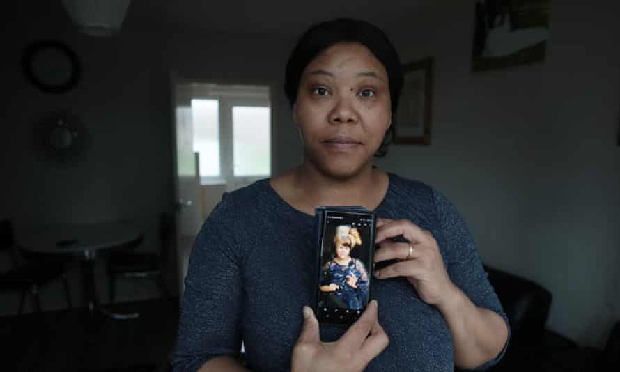 Sandra Landsberg, with a picture of her sister, Annabella, who died from medical neglect at Peterborough prison.