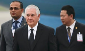 Rex Tillerson has told staffers to duck questions on what it would take to get the US to return to the Paris climate agreement.