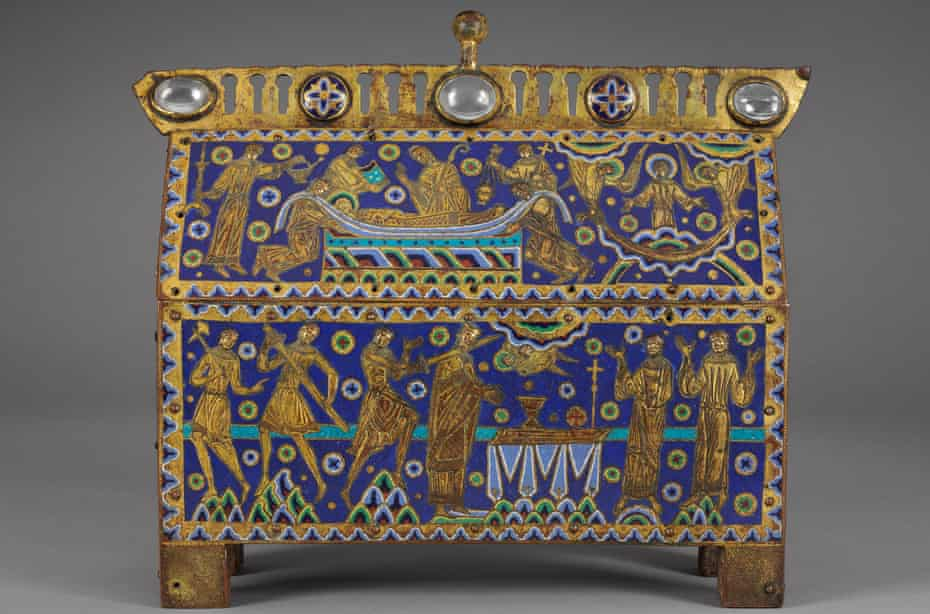 'The emotion is still raw' … casket showing the murder of Thomas Becket from Limoges, France, about 1180-1190.