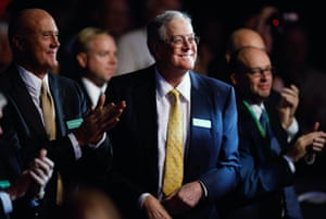 Americans for Prosperity Foundation chairman and Koch Industries executive vice president David H. Koch listens to speakers during the Defending the American Dream Summit in 2011.