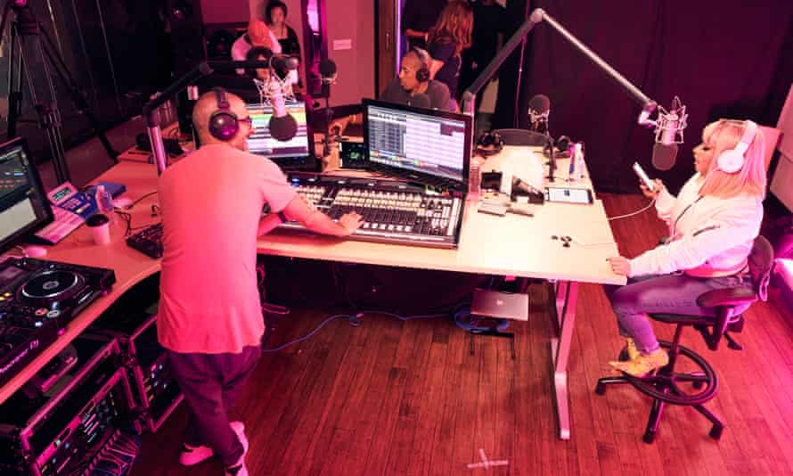 Taking the mic… Nicki Minaj presenting Queen Radio.