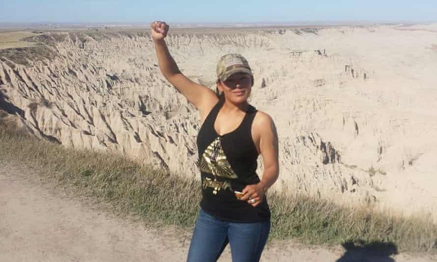 Red Fawn Fallis, a member of the Oglala Sioux tribe, was arrested in 2016.