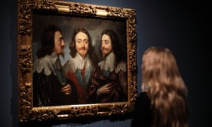 Charles I in Three Positions by Anthony van Dyck at the Royal Academy of Arts.