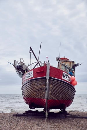 A fishing boat on Hastings beach.