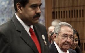Raul Castro with Nicolas Maduro