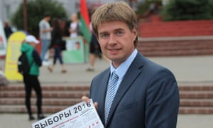 Andrey Kozik in Minsk, a 37-year-old lawyer running for a seat in parliament.