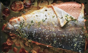 Baked Salmon with Thyme and Thin Potatoes - Nadine Levy Redzepi