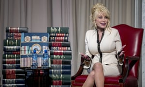 Dolly Parton speaks at the Library of Congress.