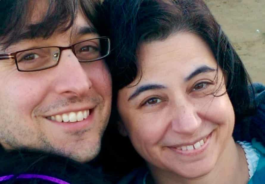 Laurie Frankel and her husband.