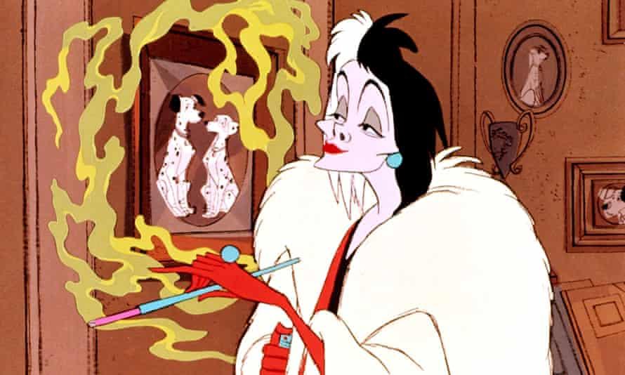 Cruella de Vil in 101 Dalmatians.