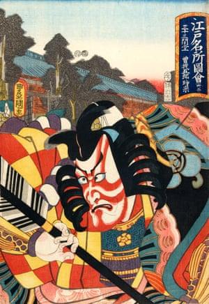 The actor Ichikawa Danjuro VII as Soga no Goro Tokimune, 1852.
