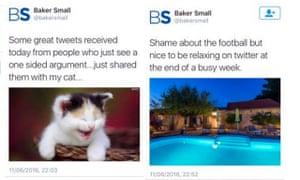 Baker Small tweets