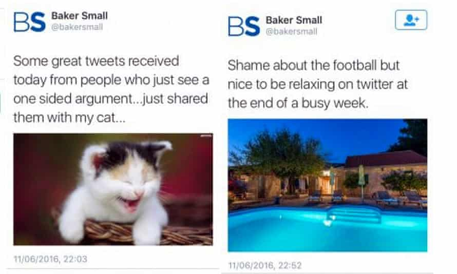 Baker Small tweet, which has since been deleted