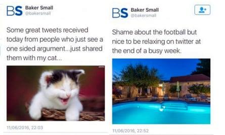 Baker Small tweet.
