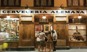 A bar open late in Madrid