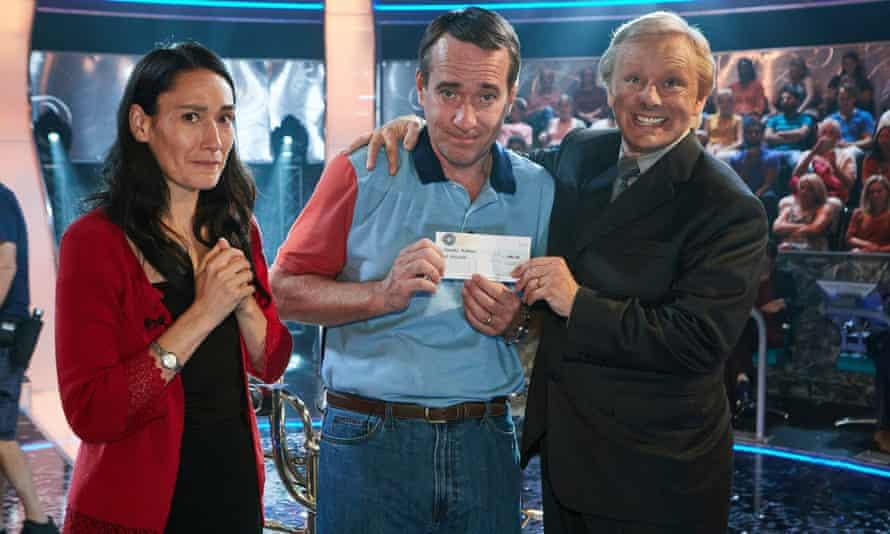 From left: Sian Clifford as Diana Ingram, Matthew Macfadyen as Charles Ingram and Michael Sheen as Chris Tarrant in ITV drama Quiz.