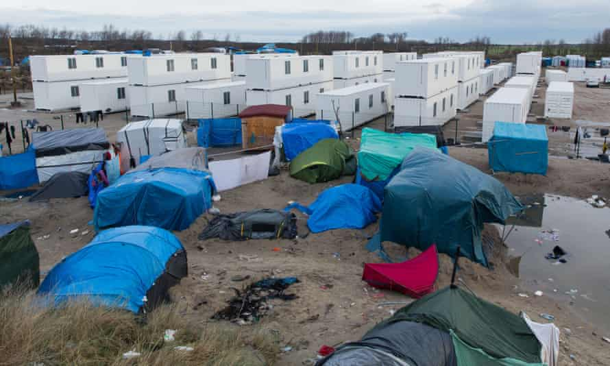 The new refugee camp close to the Jungle in Calais