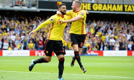 Watford's Miguel Britos punishes Liverpool defence to grab dramatic draw