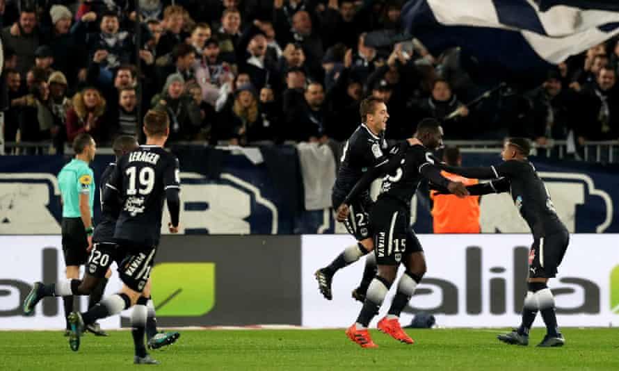 Alexandre Mendy celebrates against St Étienne.