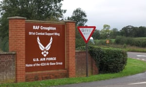 RAF Croughton, Northamptonshire, a US air force base in the UK.