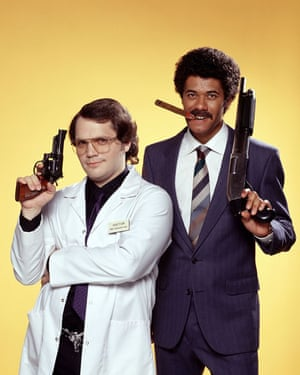 Holness with Richard Ayoade in Garth Marenghi's Darkplace.