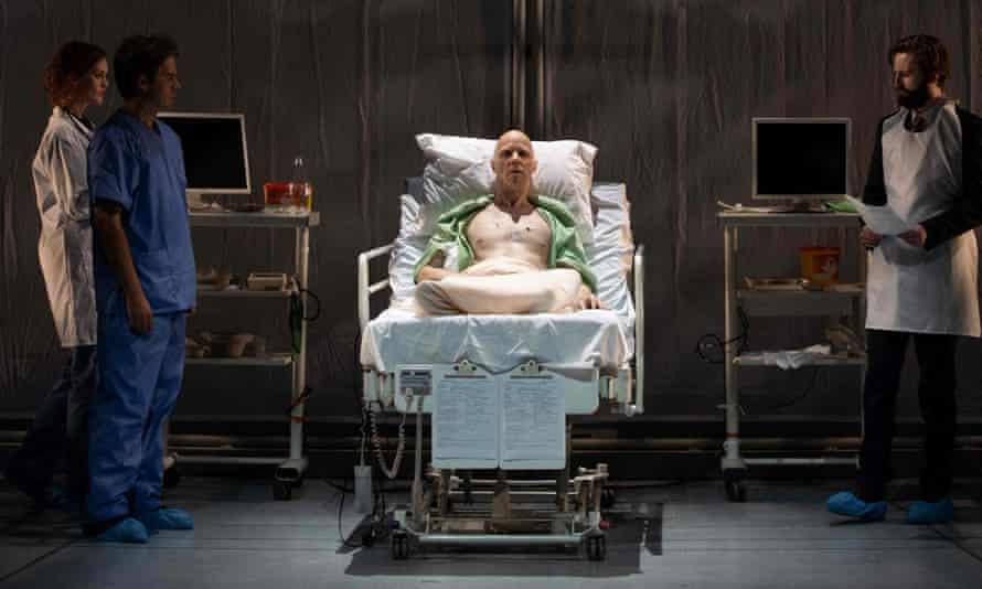 Adrian Dwyer as Alexandre Litvinenko in The Life and Death of Alexandre Litvinenko at Grange Park Opera.