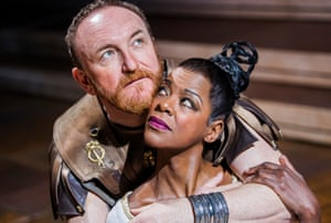 Antony Byrne's 'man of flesh' meets Josette Simon's 'queen and jester' in Antony and Cleopatra.