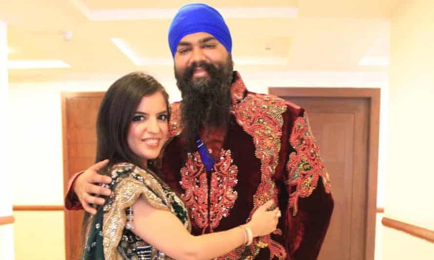 Amitpal Singh Bajaj with his wife Bandhna Kaur Bajaj.