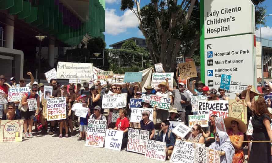 Lady Cilento hospital protest
