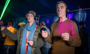 Absolutely believeable ... Karen (Hermione Norris) and Adam (James Nesbitt) in Cold Feet.