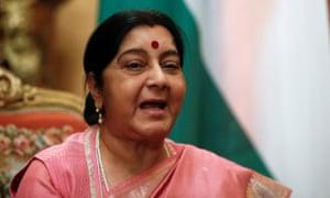 Sushma Swaraj, India's external affairs minister