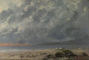 Beach Scene. Artist: Courbet, Gustave