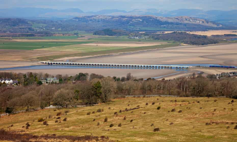 The Kent estuary and viaduct from Arnside Knott.