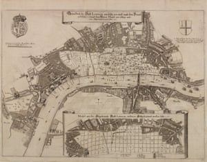 Robert Hooke's plan for rebuilding London after the Great Fire.